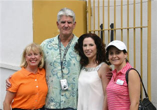 Barbara Sunshine President of Broward County Bar, Scott Woodburn of the Cooperative Feeding Project, Diana Santa Maria and Cooperative Feeding volunteer