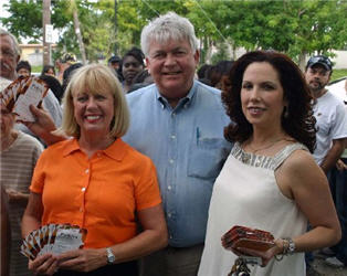 Barbara Sunshine, Bruce Weihe and Diana Santa Maria of the Broward County Bar