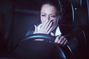 Tired Person Driving