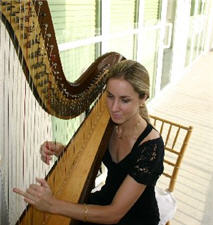 Our lovely Harpist for the Event